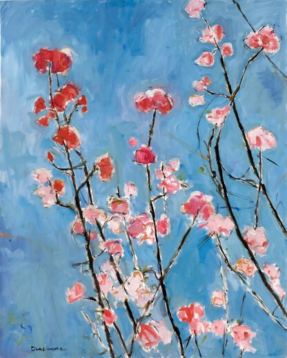 Spring, the Pink Flowers
